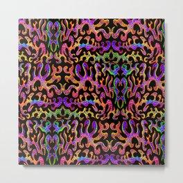 fluo pastel shapes Metal Print