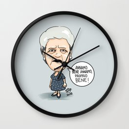 Annamo bene! Wall Clock