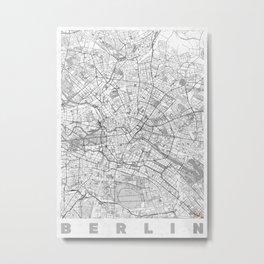 Berlin Map Line Metal Print