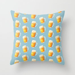 Ice Cold Beer Pattern Throw Pillow