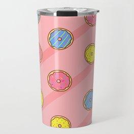 Pastel Glazed Donuts (pink) Travel Mug