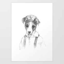 British Animal Portrait < Dog> Art Print