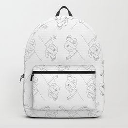 Alas, poor Sparrow! | Black on White Backpack