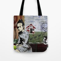 poland Tote Bags featuring My summer in Poland by JulieAaland