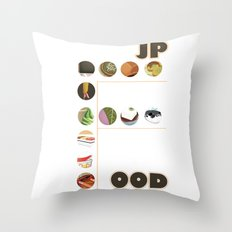Japanese Food Bubble Zoom Throw Pillow