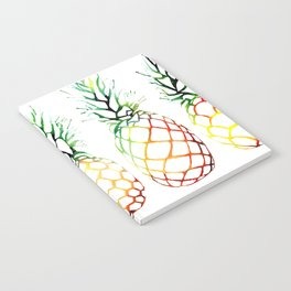 Retro Pineapples Notebook