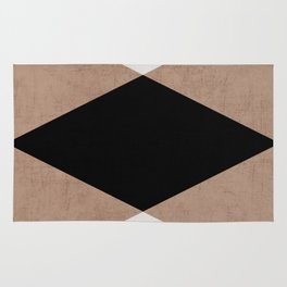 natural, cream and black triangles Rug