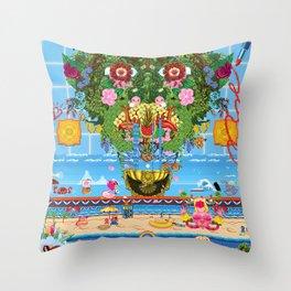 Cabana Fever Throw Pillow