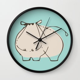 Baby Hippo Wall Clock