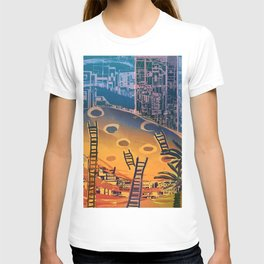 Time through Time, from Caves to Skyscraper, from Organic to Geometric T-shirt