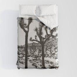 Joshua Tree Black and White Print Comforters