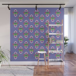 Folk - small composition on purple background Wall Mural