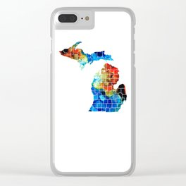 Michigan State Map - Counties by Sharon Cummings Clear iPhone Case