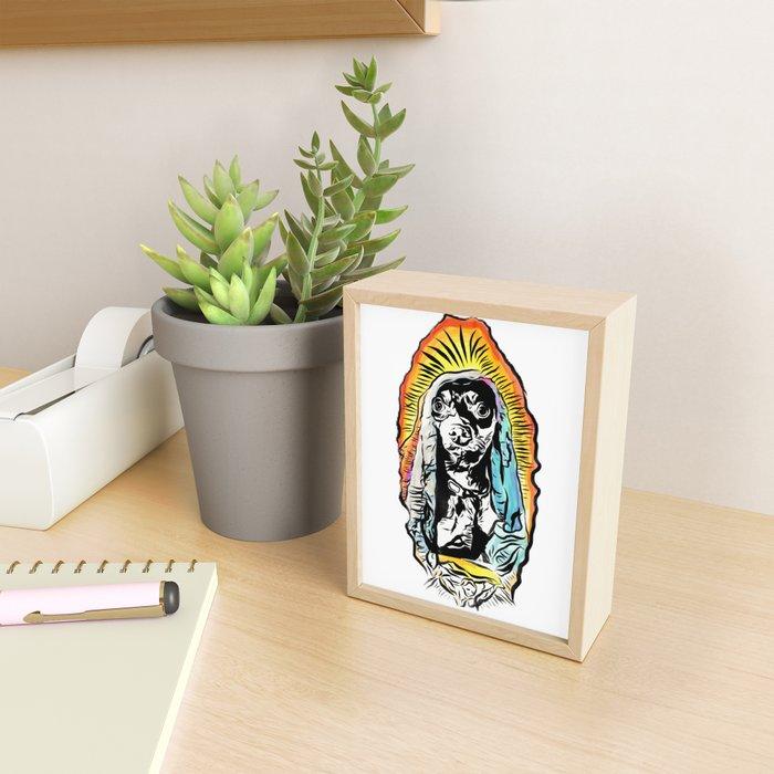 Santa Zanahoria - Dog Mother Mary Illustration Framed Mini Art Print