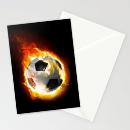 Soccer Fire Ball Stationery Cards