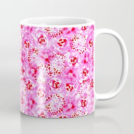 Watercolor Bouquet in Rose Red Pink Coffee Mug