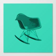 Rocker Chair Blue Canvas Print