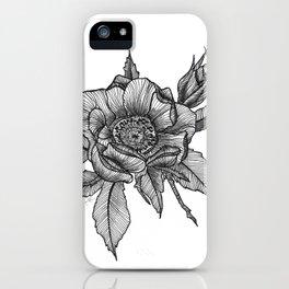 Sweet briar rose iPhone Case