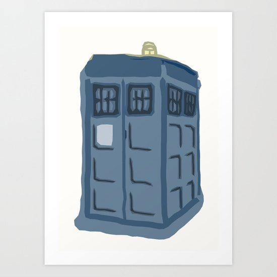 Abstract TARDIS Art Print