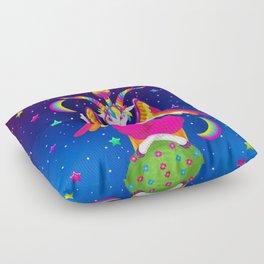 1997 Neon Rainbow Baphomet Floor Pillow