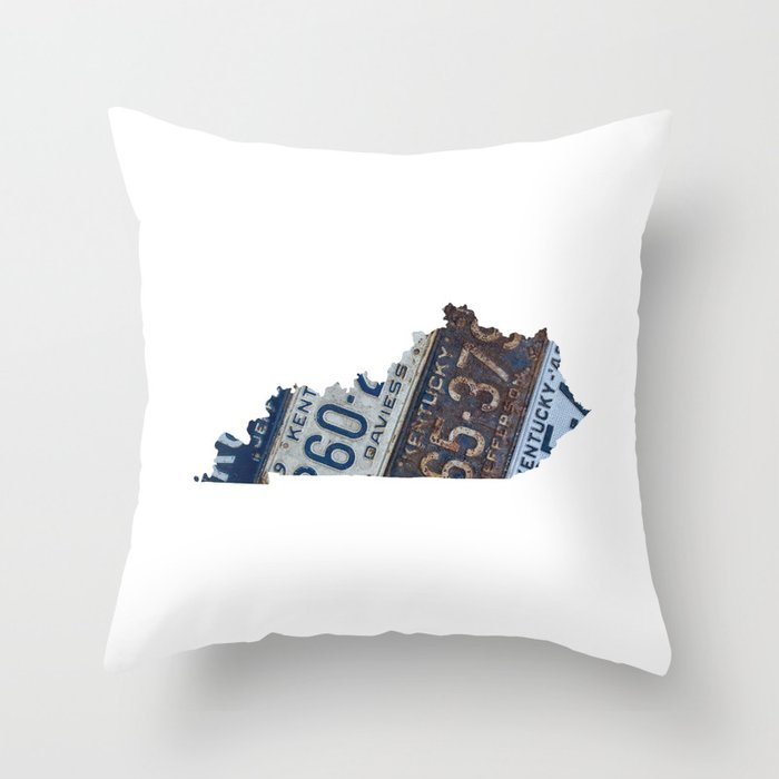 Vintage Kentucky Throw Pillow By Thetinowl Society6