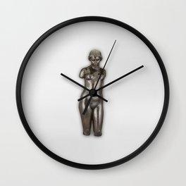 Naked woman sculpture, Torse de Dina. Finest Museum art. Wall Clock