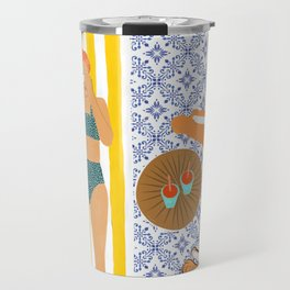 How To Vacay With Your Tiger #illustration Travel Mug