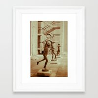 game Framed Art Prints featuring Game by Sébastien BOUVIER