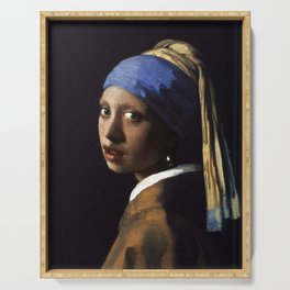 Girl With The Pearl Earring Ethnic Serving Tray