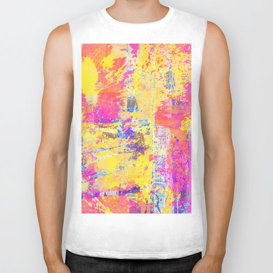 Always Look On The Bright Side - Abstract, textured painting Biker Tank
