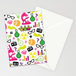 Neon Scientist Stationery Cards