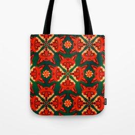 Fox Cross geometric pattern Tote Bag