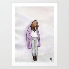Cozy Cardigan Art Print