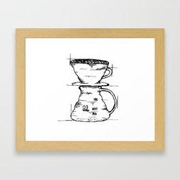 Pour Over Framed Art Print