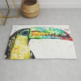 Toucan Watercolour Painting Rug
