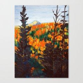 Forest Invermere by Dennis Weber of ShreddyStudio Canvas Print
