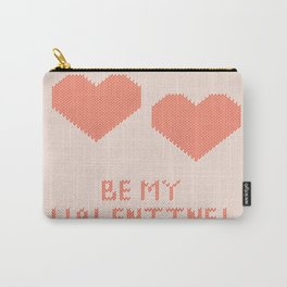Knitted background with hearts Carry-All Pouch