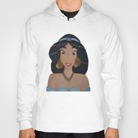 jasmine Hoodies featuring Jasmine by Sierra Christy Art