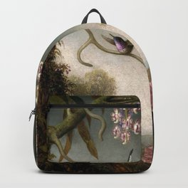 Orchids And Spray Orchids With Hummingbird 1890 By Martin Johnson Heade   Reproduction Backpack