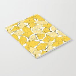 ginkgo leaves (yellow) Notebook