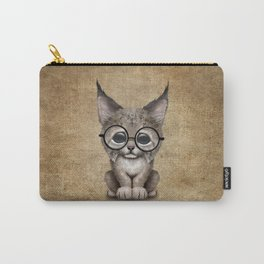 Cute Baby Lynx Cub Wearing Glasses Carry-All Pouch