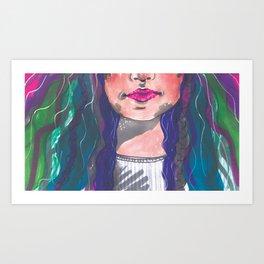 Dyed Curls Art Print