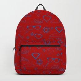 Supergirl/Kara's pattern - blue Backpack