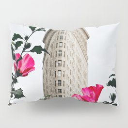 Pink Flowers in New York City (Color) Pillow Sham