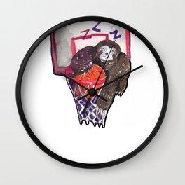 sloth playing basket Wall Clock