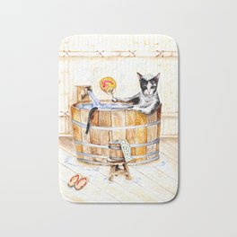 Onsen Cat - Do not disturb Bath Mat