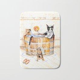 Onsen Cat - Do not disturb Bath Mat