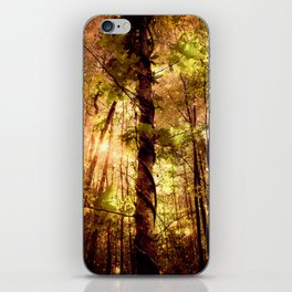 Forest of the Fairies Golden Leaves iPhone Skin