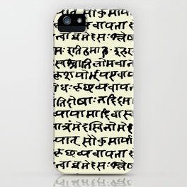 Sanskrit // Parchment iPhone Case