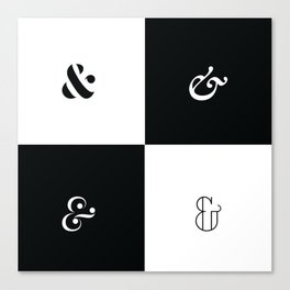For the Love of Ampersand #1 Canvas Print